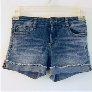 "Lucky Brand ""Riley"" Jean Shorts Girls size 8"